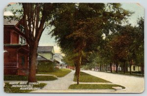 Kenton OH Homes N of Downtown on Main St~West Side~Shade Trees~c1910 Postcard