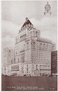 TORONTO, Ontario, Canada, 1930-1950s; C.P.R. Royal York Hotel