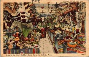 Postcard Buckhorn Curio Store Saloon San Antonio Texas Longhorns Unposted 1436