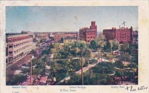Orndorff Hotel ,Federal Building And Sheldon Hotel El Paso Texas 1908
