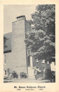 F11/ Jewett Ohio Postcard Harrison County c1959 Centennial Lutheran Church