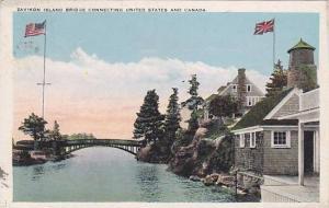 Zavikon Island Bridge connecting United States and  Ontario , Canada, PU-00-10s