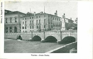 09582 - CARTOLINA d'Epoca - TREVISO Citta': PONTE DANTE