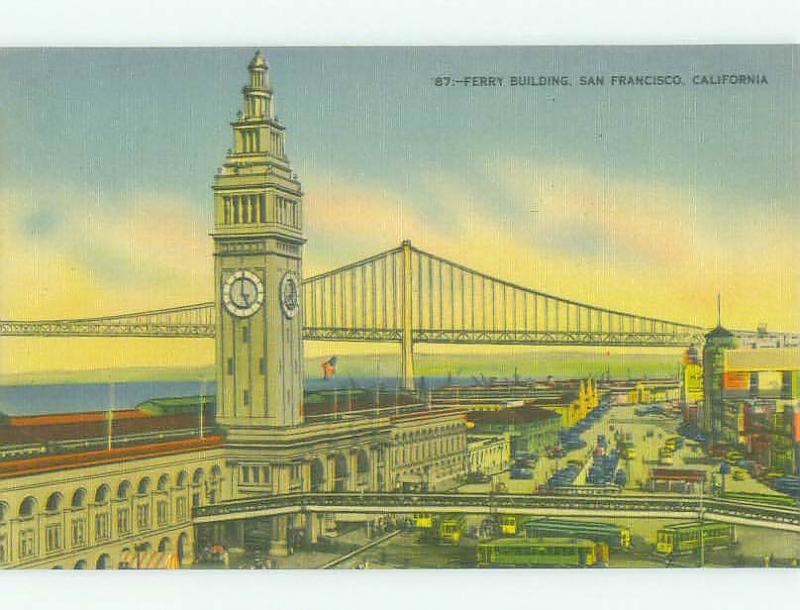 Unused Linen FERRY BUILDING San Francisco California CA HQ9820