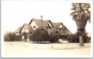 Phoenix, Arizona RPPC Photo Postcard House of Mudge Street View 1948 Cancel