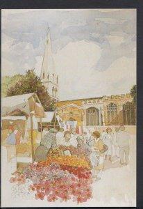 Northamptonshire Postcard- Market Place,All Hallows Church,Wellingborough MB2817