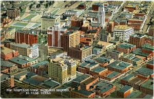 Airplane - Aerial View - Business Section El Paso TX, Texas