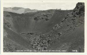 RPPC of the Big Crater, Craters of the Moon, Idaho, ID, AZO RP 1924-1949