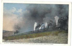 Denver & Rio Grande Passenger Train at Soldier Summit Utah U