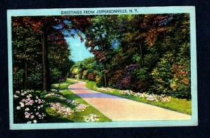 NY Greetings from JEFFERSONVILLE NEW YORK Linen PC
