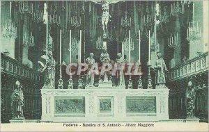 Old Postcard Padova Basilica di S Antonio Altare Maggiore