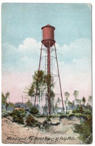 Woodland, Me, Water Tower at Pulp Mills
