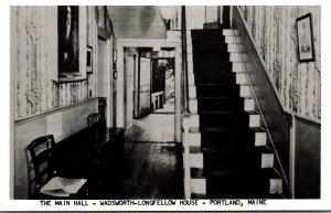 Maine Portland Wadsworth-Longfellow House The Main Hall