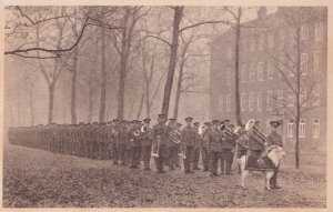 Welsh Troops Fundraising Military Procession Old Postcard
