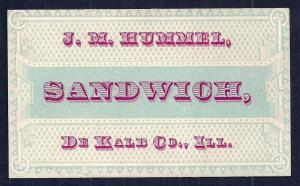 VICTORIAN TRADE CARD JM Hummel Machinery
