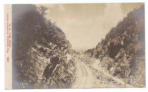 Vintage RPPC Gateway Crawford Notch RR tracks White Mts NH