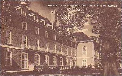 Illinois Springfield Terrace Illini Union Building Universsity Of Illinois Ar...