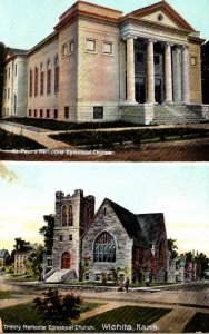 Kansas Wichita St Paul's Methodist Episcopal Chruch and Trinity Methodis...
