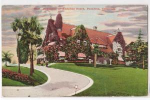 Res of Adolphus Busch, Pasadena CA