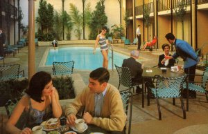 The Handlery Motor Inn San Francisco Swimming Pool USA Postcard