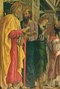 San Zeno Polyptych (left part) by MANTEGNA, Andrea Vintage Postcard
