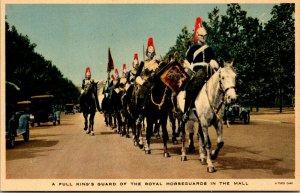 TUCK - FULL KING GUARD ROYAL HORSEGUARDS MALL - VINTAGE - POSTCARD COLOR RPPC