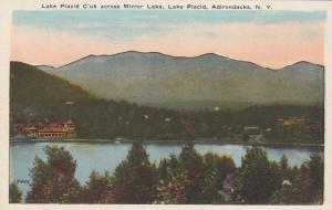 Lake Placid Club and High Peaks from Mirror Lake - Adirondacks, New York - WB