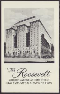 The Roosevelt Hotel,New York,NY