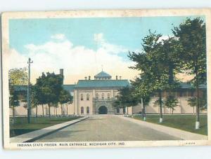 W-Border PRISON JAIL SCENE Michigan City Indiana IN G4599