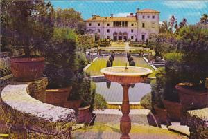 Formal Garden Vizcaya on Biscayne Bay Miami Florida