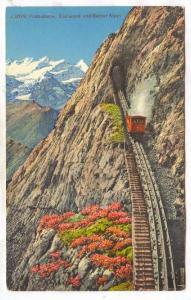 The Pilatus Railway or Pilatusbahn, Eselwand Und Berner Alpen, Switzerland, 1...