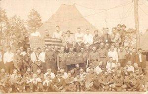 Greenville South Carolina No-NY-129 Camp Scene Real Photo Postcard AA13834
