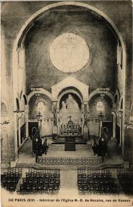 CPA Paris 14e Paris-Intérieur de l'Eglise N.-D. du Rosaire (311130)