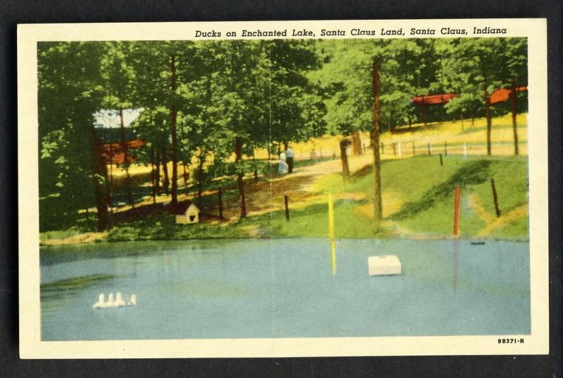 Santa Claus Land,Indiana/IN Postcard,Ducks On Enchanted Lake