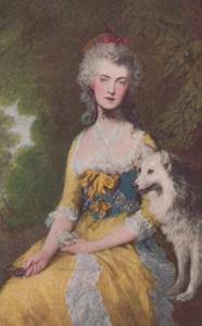 Gainsborough Mrs Robinson Old Antique Painting Rare Oilette Postcard
