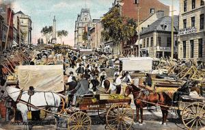 Canada Montreal, Market Day on Jacques Cartier Square Commerce 1910