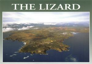 Postcard The Lizard Peninsula Aerial View Goonhilly in the Distance Cornwall
