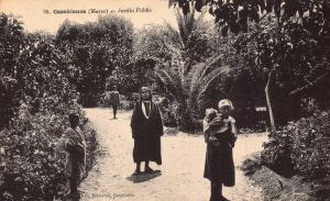 Morocco Casablanca Maroc Jardin Public Garden Postcard