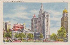New York City Hall Park