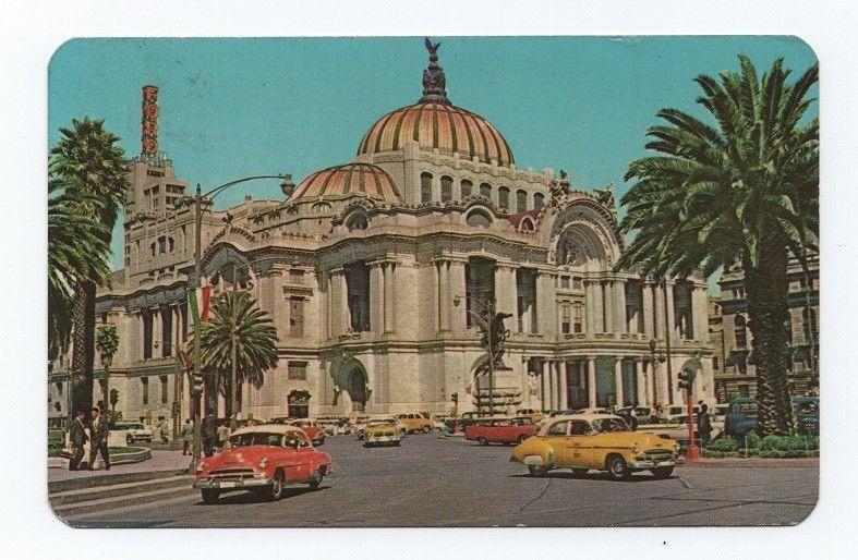 MEXICO CLASSIC CAR CARS AUTOMOBILES 1960 years POSTCARD STAMPED