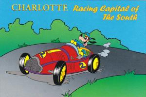 Humour Goofy In Race Car Charlotte Racing Capitol Of The South