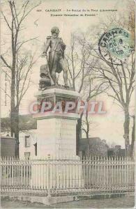 Old Postcard Carhaix The Statue of Tour d'Auvergne