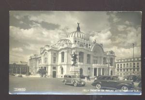 RPPC PALACIO DE BELLAS ARTES MEXICO CITY MEXICO OLD CARS REAL PHOTO POSTCARD