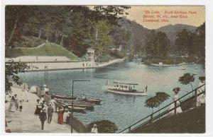 Boating Rock Springs Park East Liverpool Ohio 1910c postcard