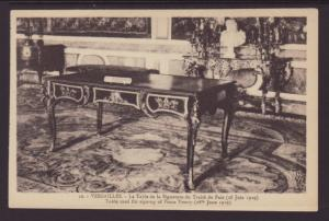 Table Used to Sign Peace Treaty 1919,Versailles,France BIN