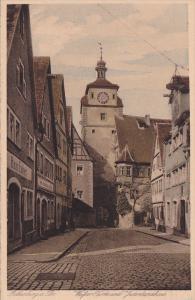 Weifser Turm Und Judentanzhaus, Rothenburg ob der Tauber, Bavaria, Germany, 1...