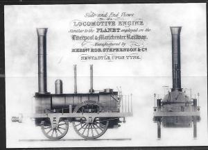 Locomotive of Liverpool & Manchester Railway, unused.