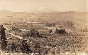 LPS80 Hood River Valley Oregon Aerial View Postcard RPPC