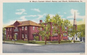 HOLLIDAYSBURG, Pennsylvania, 1930-1940s; St. Mary's Covent-School, Rectory An...
