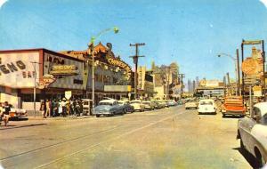 Juarez Mexico Street View Chinese Palace Old Cars Trucks Postcard